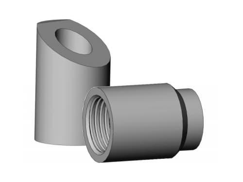 фото бобышек для установки термометров и защитных гильз - Энергоприбор
