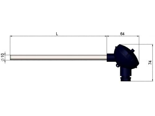 чертеж термопары (преобразователя термоэлектрического) 1199/12 - Энергоприбор