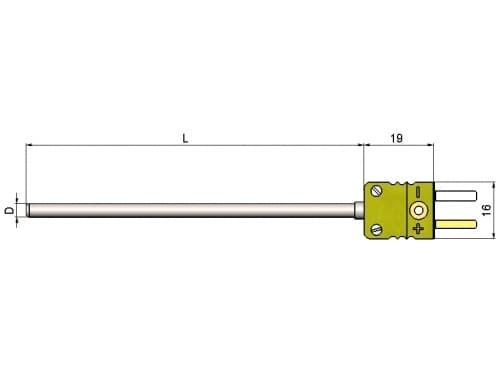 чертеж термопары (преобразователя термоэлектрического) 1199/221 - Энергоприбор