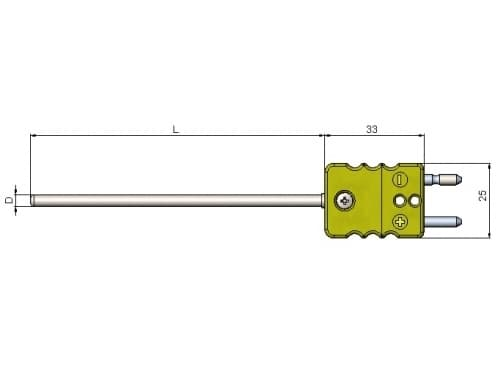 чертеж термопары (преобразователя термоэлектрического) 1199/222 - Энергоприбор