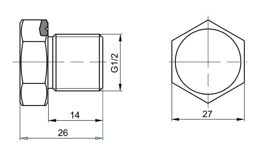 чертеж пробки вида П-22 - Энергоприбор