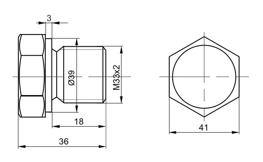 чертеж пробки вида П-04 - Энергоприбор
