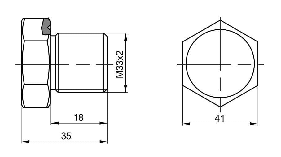 чертеж пробки вида П-44 - Энергоприбор