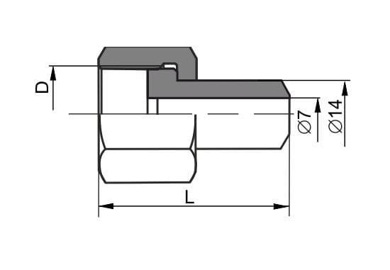 чертеж соединения трубопроводов ниппельного навертного вида 1 - Энергоприбор
