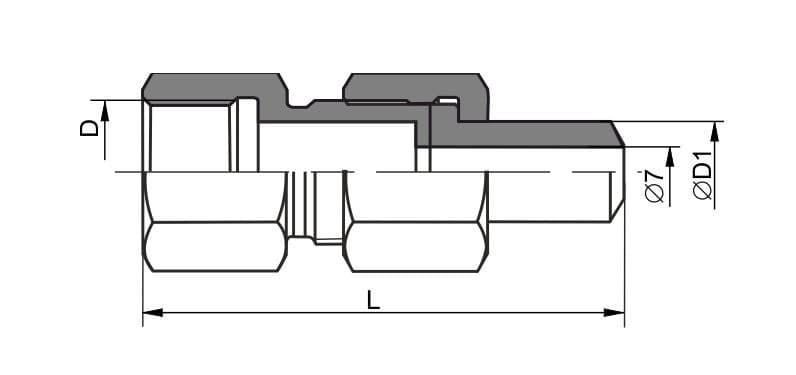 чертеж соединения трубопроводов ниппельного навертного вида 2 - Энергоприбор