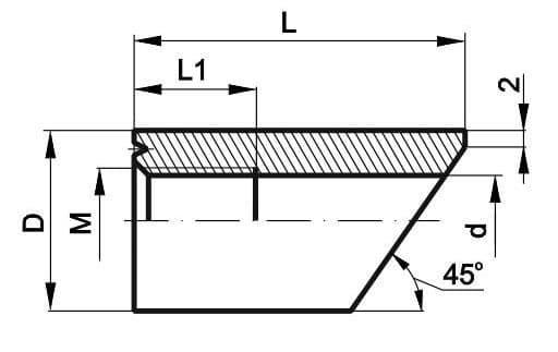 чертеж бобышки со скосом - Энергоприбор