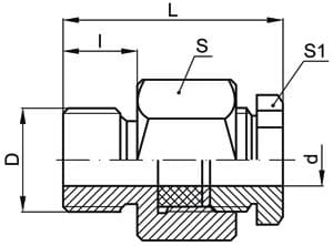 чертеж штуцера передвижного - Энергоприбор
