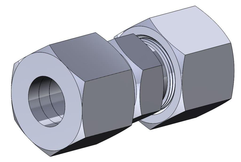 фото соединения с врезающимся кольцом проходное - Энергоприбор