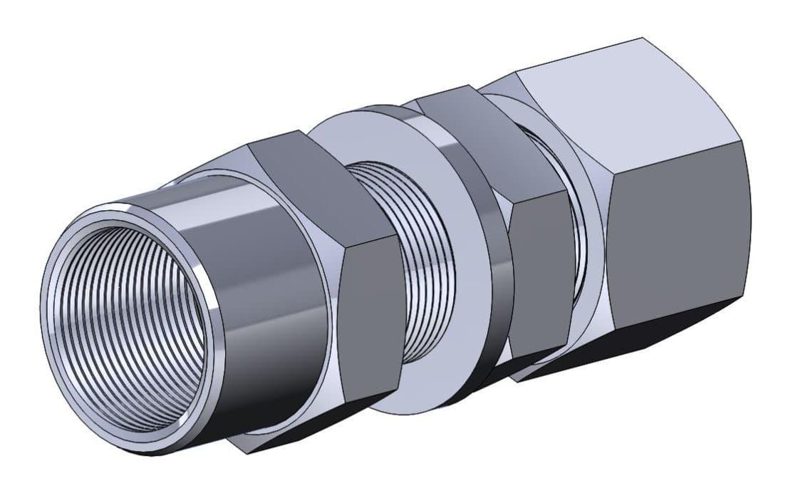 фото соединения с врезающимся кольцом переборочным навертным - Энергоприбор